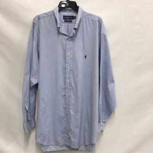 Ralph Lauren Yarmouth Oxford Shirt Lt Blue 17.5